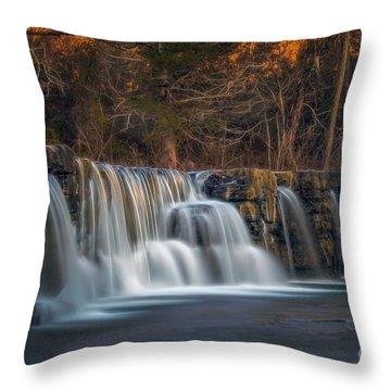 Back To Natural Dam Throw Pillow