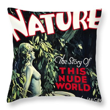 Back To Nature Throw Pillow by Studio Artist