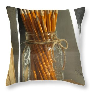 Back To School Throw Pillow by Alfred Ng