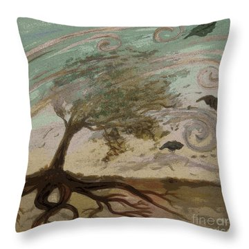 Back To Solace Throw Pillow