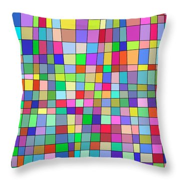 Back To Square One Throw Pillow