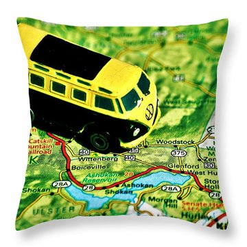 Back To The Garden Throw Pillow by Benjamin Yeager