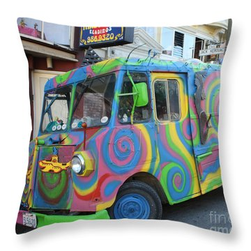 Back To The Sixties Throw Pillow by John Telfer