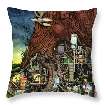Back To Your Roots Throw Pillow by Colin Thompson