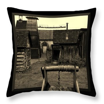 Back Yard Gold Mine Throw Pillow by Barbara St Jean