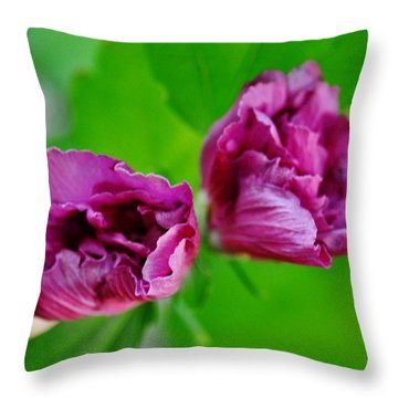 Back Yard Weed Throw Pillow