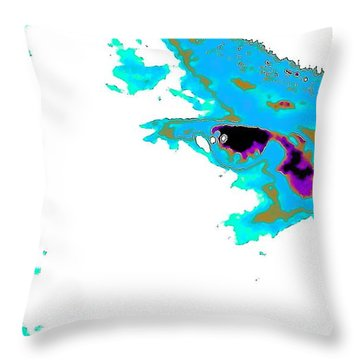 Backatcha Throw Pillow by Jesse Ciazza