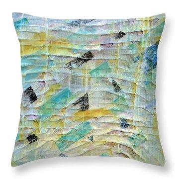 Backbeat Throw Pillow by Regina Valluzzi