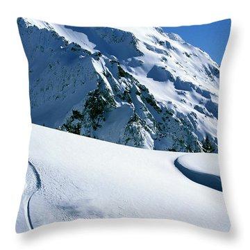 Backcountry Snowboarding Near Mt Throw Pillow