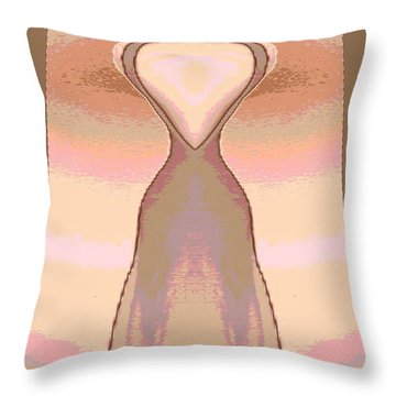 Backless Dress Throw Pillow
