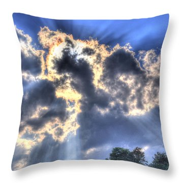 Backlight Throw Pillow by Craig T Burgwardt