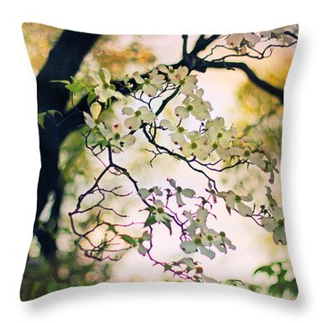 Backlit Blossom Throw Pillow