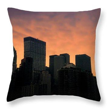 Backlit Throw Pillow by Joann Vitali