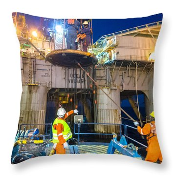 Personnel Basket Transfer Throw Pillow