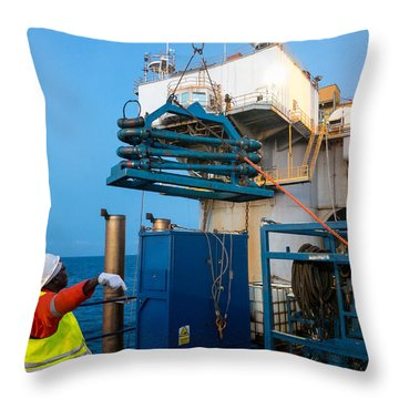 Backloading Equipment 2 Throw Pillow by Gregory Daley  PPSA