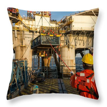 Backloading Equipment 4 Throw Pillow by Gregory Daley  PPSA