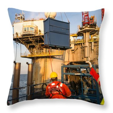 Backloading Equipment Throw Pillow by Gregory Daley  PPSA