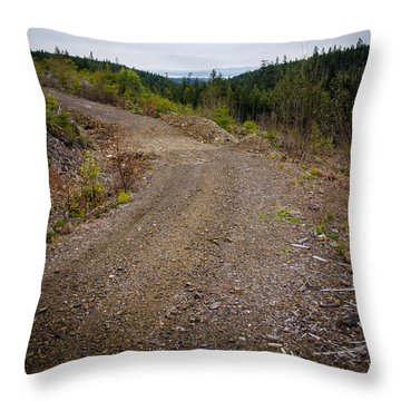 4x4 Logging Road To Adventure Throw Pillow