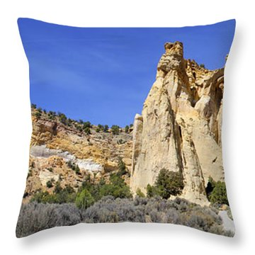 Backroads Utah Panoramic 2 Throw Pillow by Mike McGlothlen
