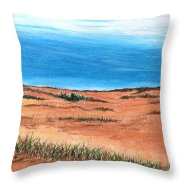 Backside Beach Throw Pillow