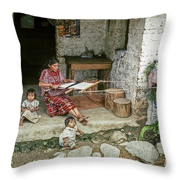 Throw Pillow featuring the photograph Backstrap Loom 2 by Tina Manley
