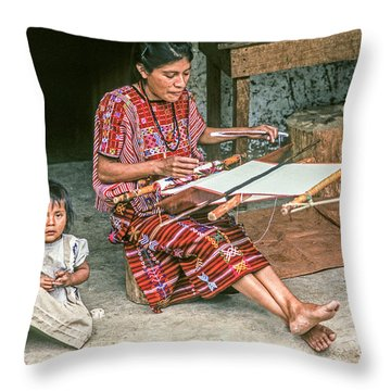 Throw Pillow featuring the photograph Backstrap Loom 3 by Tina Manley