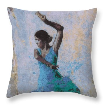 Backstreet Dancer In Horta Throw Pillow by Susan Alvaro