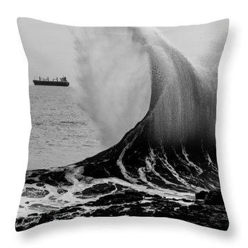 Backwash Throw Pillow