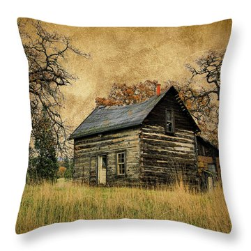 Backwoods Cabin Throw Pillow