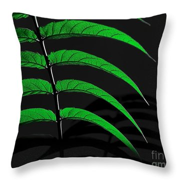 Backyard Abstract Throw Pillow