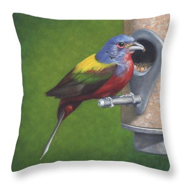 Backyard Bunting Throw Pillow
