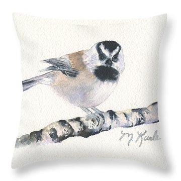 Backyard Busybody - Mountain Chickadee Throw Pillow