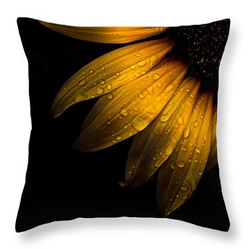 Backyard Flowers 28 Sunflower Throw Pillow