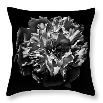 Throw Pillow featuring the photograph Backyard Flowers In Black And White 3 by Brian Carson