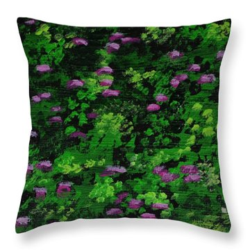 Backyard Garden Throw Pillow by P Dwain Morris