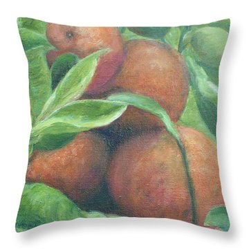 Backyard Oranges Throw Pillow
