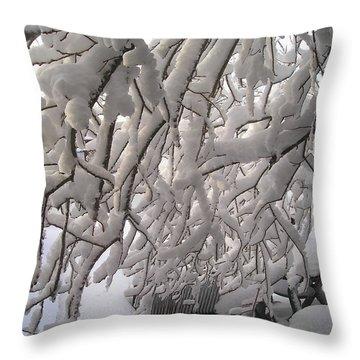 Backyard Throw Pillow