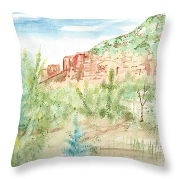 Backyard Sedona Throw Pillow