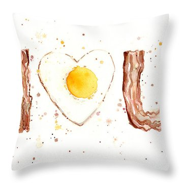 Bacon And Egg I Love You Throw Pillow