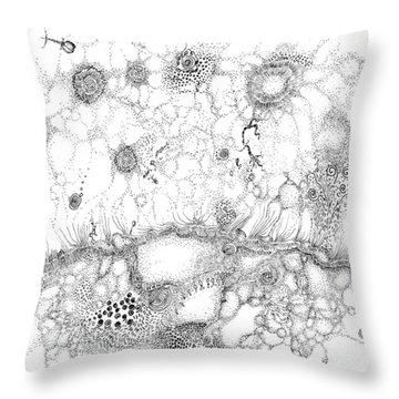 Bacteriophage Ballet Throw Pillow