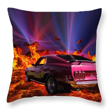Bad Attitude Throw Pillow by Chris Thomas