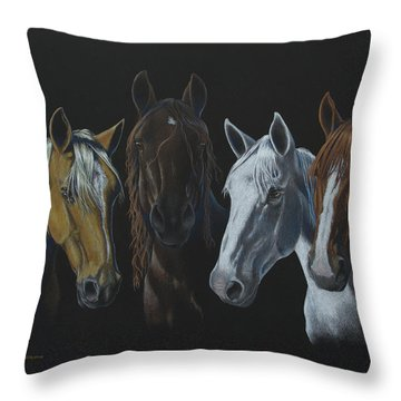 Bad Boys Of Horsefeathers Farm Throw Pillow