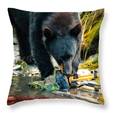 Bad Day For Nikon Throw Pillow
