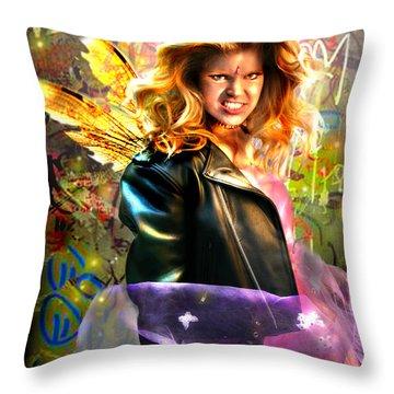 Bad Girl Fae  Throw Pillow