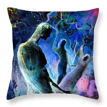 Bad Herbs 02 Throw Pillow by Miki De Goodaboom