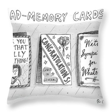 Bad Memory Cards Throw Pillow