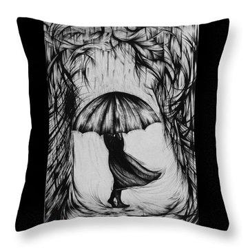 Bad Mood II Throw Pillow by Anna  Duyunova