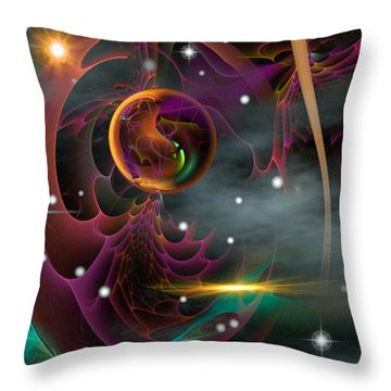 Bad Moons Arisin' Throw Pillow by Phil Sadler