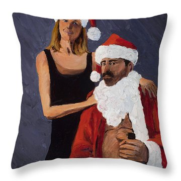 Bad Santa II Throw Pillow