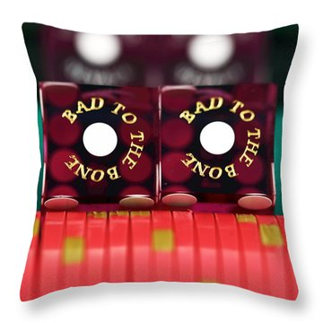 Bad To The Bone Throw Pillow